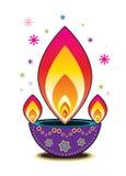 Diwali candle light. Graphic illustration stock illustration