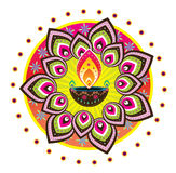 Diwali candle light. Graphic illustration Stock Photos