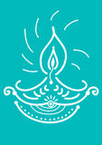 Diwali Candle Light. Indian new year celebrating oil lamp illustration design Stock Image