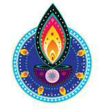 Diwali candle light Royalty Free Stock Photography