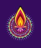 Diwali candle light Stock Photos
