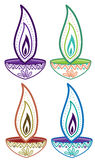 Diwali candle light set Royalty Free Stock Image