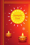 Diwali card. Great way for expressing diwali greetings with sample text royalty free illustration