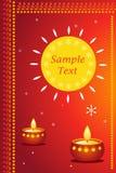Diwali card Stock Image