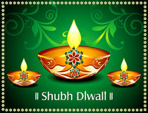 Diwali Card With floral Royalty Free Stock Image