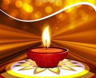 Diwali card rangoli wave background Stock Photography