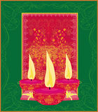 diwali celebration background,  illustration Royalty Free Stock Photography