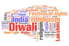 Diwali. Celebration concepts word cloud illustration. Word collage concept Stock Photos