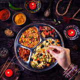 Diwali celebration food Royalty Free Stock Photography
