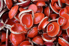 Diwali Clay Lamps Royalty Free Stock Images