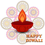 Diwali colorful Beautiful rangoli design Stock Photo