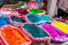 Diwali colour powders for sale Royalty Free Stock Photo