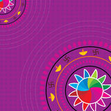 Diwali concept. Diwali decorative design vector illustration Royalty Free Stock Photography