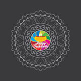 Diwali concept. Diwali festival decorative design concept Royalty Free Stock Photography
