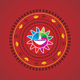 Diwali concept. Diwali festival decorative design with lamp concept royalty free illustration