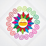 Diwali concept. Diwali lamp concept vector illustration Royalty Free Stock Image