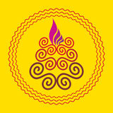 Diwali concept. Diwali lamp concept vector illustration Royalty Free Stock Photography