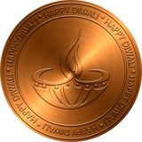 Diwali Copper Embossed Design Stock Photography