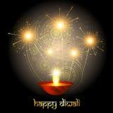 Diwali crackers. Diwali festival crackers on artistic background stock illustration