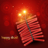 Diwali crackers. Diwali festival crackers on artistic red background