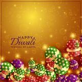 Diwali crackers background with shiny sparkles. Vector Stock Photography