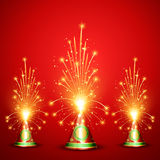 Diwali crackers background Stock Photography