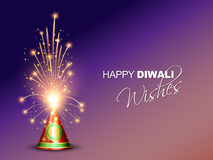 Diwali crackers background Royalty Free Stock Photo