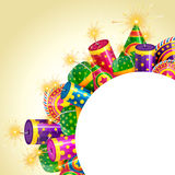 Diwali crackers background Stock Photos