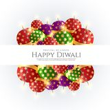 Diwali crackers bombs vector background design. Vector Royalty Free Stock Images