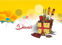 Diwali crackers for Diwali gift. Hand Drawn Sketch Vector Royalty Free Stock Image