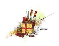 Diwali crackers for Diwali gift. Hand Drawn Sketch Vector Stock Photos