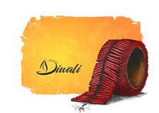 Diwali Crackers. Hand Drawn Sketch Vector illustration Royalty Free Stock Photography