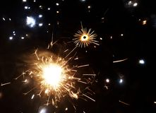 Diwali Crackers Sparks Lights And In Festival Celebration Stock Photos