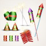 Diwali crackers set Royalty Free Stock Images