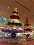 Diwali décoratif à l'aéroport international de Mumbai Image stock