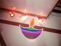 Diwali dans l'Inde Photographie stock libre de droits