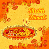 Diwali decorated puja thali for light festival of India Royalty Free Stock Photography