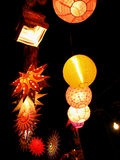 Diwali Decoration. Beautiful lanterns traditionally lit up in a shop, on the occasion of Diwali festival in India