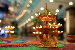 Diwali decoration. Diwali or Deepawali is a festival of light and prosperity. People decorate their houses, shops, offices with different kind of lighting. In Stock Photos
