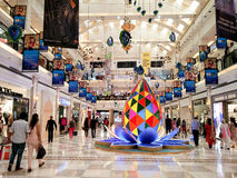 Diwali decorations at Ambience mall Delhi. Delhi, India - 8th Oct: Festival decorations at a shopping mall in Delhi. The shopping season sees a huge number of Stock Photo