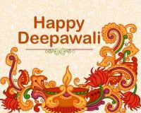 Diwali decorou o diya Imagens de Stock Royalty Free