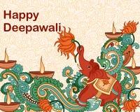 Diwali decorou o diya Fotos de Stock