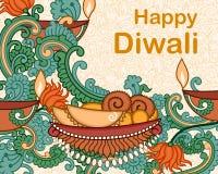 Diwali decorou o diya Foto de Stock
