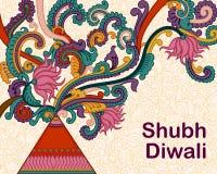 Diwali decorou o foguete Fotos de Stock Royalty Free