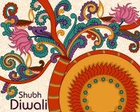 Diwali decorou o foguete Fotografia de Stock Royalty Free