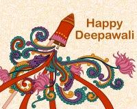 Diwali decorou o foguete Imagem de Stock