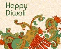Diwali decorou o foguete Foto de Stock