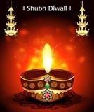Diwali Deepak Background de Shubh Image libre de droits