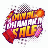 Diwali Dhamaka Sale Poster, Banner or Flyer design. Diwali Dhamaka Sale Banner, Sale and Discount Flyer, Creative Promotional Poster, Typographic background Royalty Free Stock Image