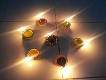 Diwali Dias eller stearinljus Fotografering för Bildbyråer